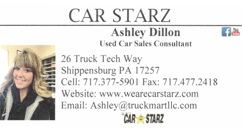 Ashley Dillon Used Car Sales Consultant