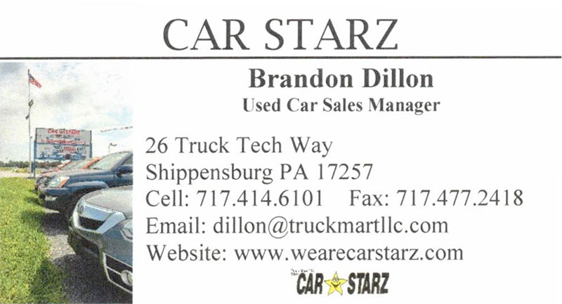 Brandon Dillon Used Car Sales Manager