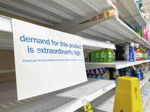 Stores everywhere are working hard to keep goods on the shelves.